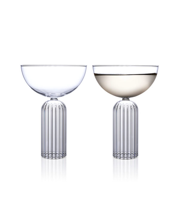 May Coupe Pair Glass