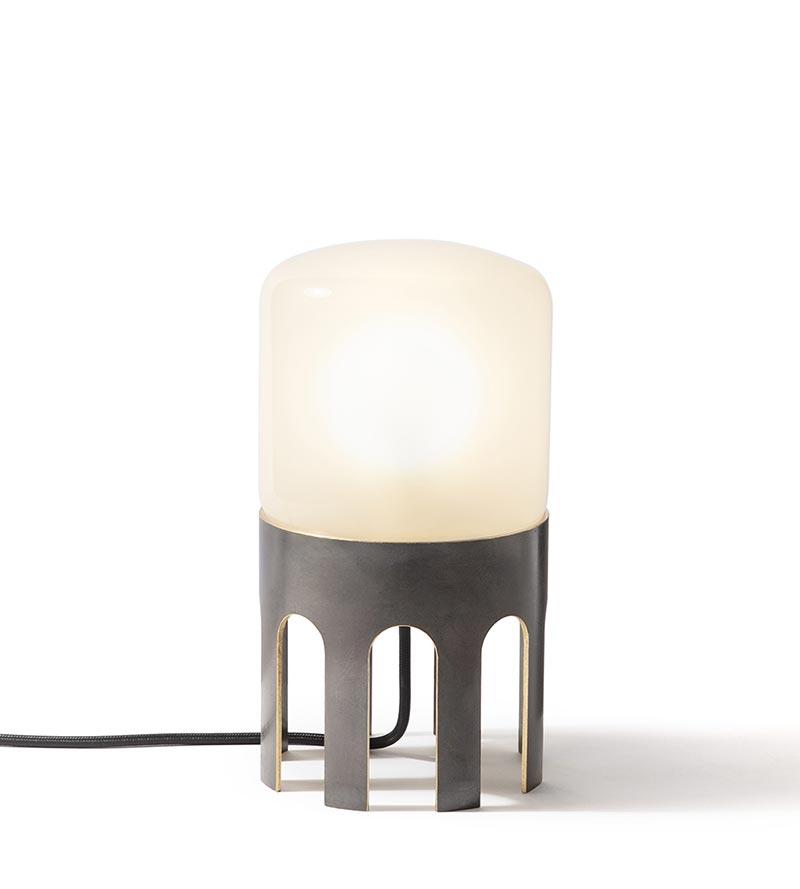 Tplg1 black burished brass lamp