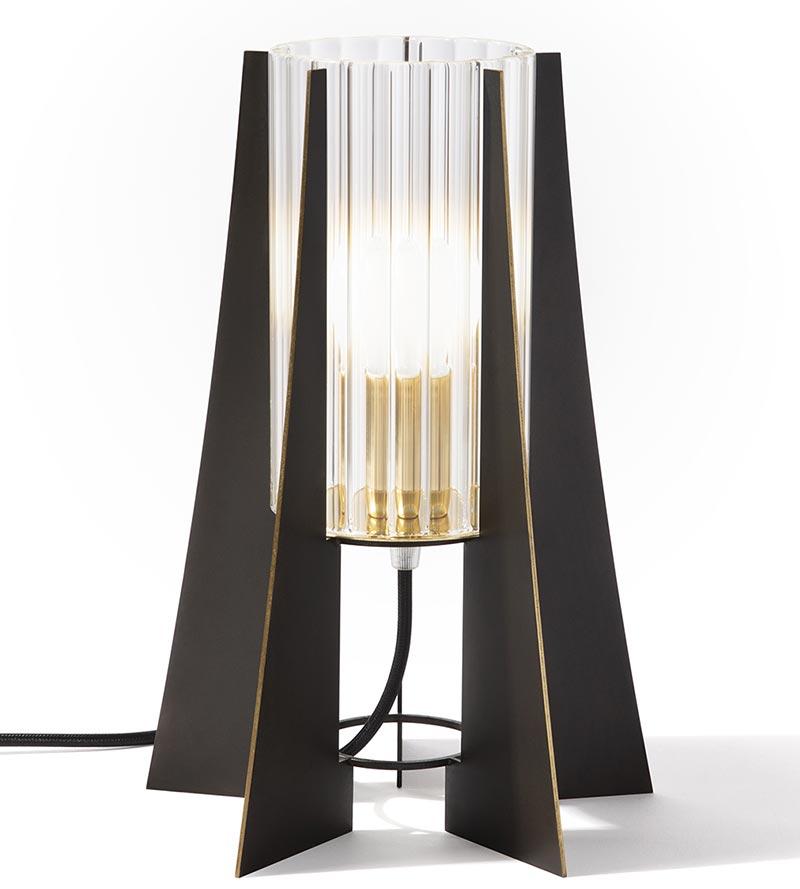 Tplg2 black burished brass lamp
