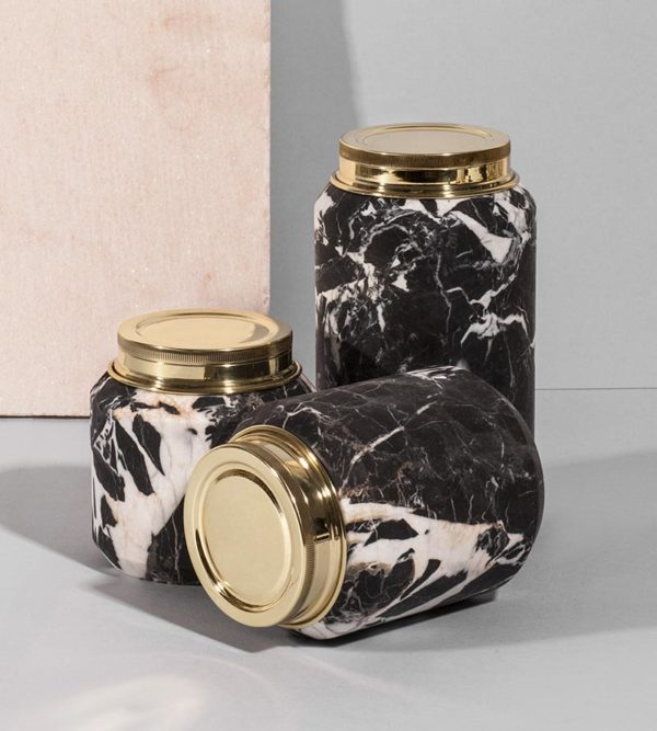 Four Season Nero Antique Marble Can