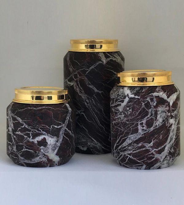 Four Season Rosso Levanto Marble Can