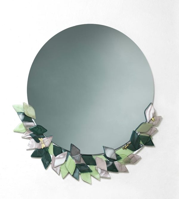Foliage Collection rounded mirror