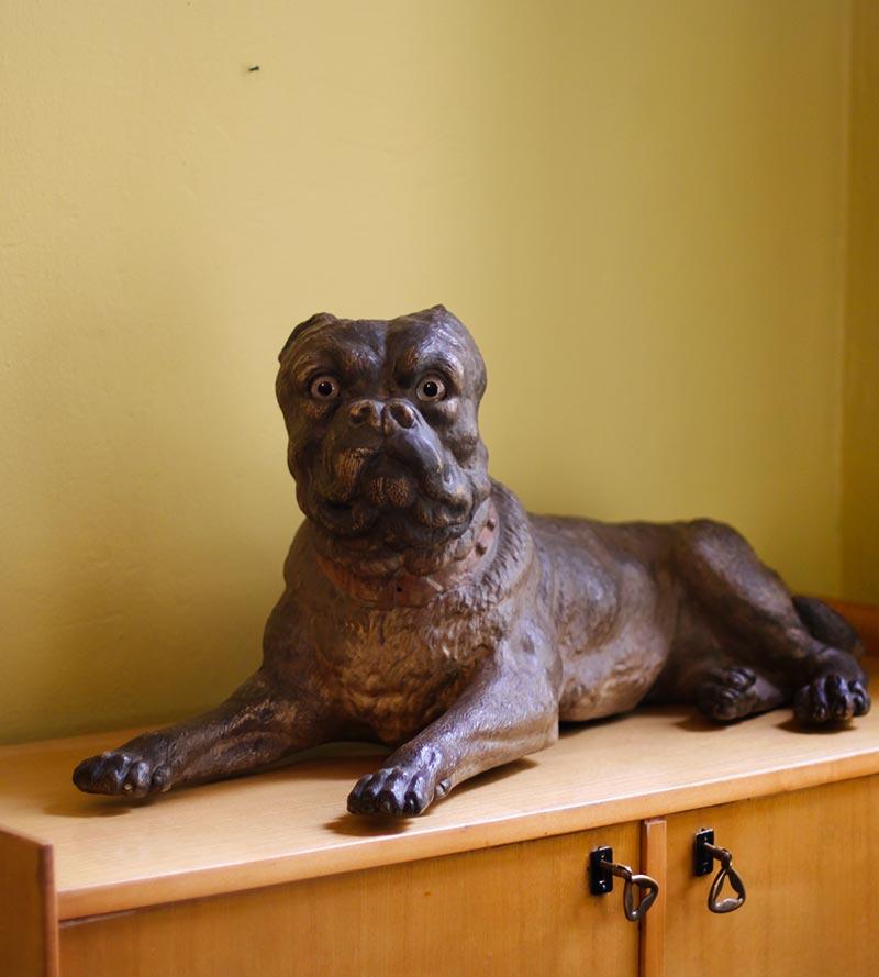 Terracotta mastiff