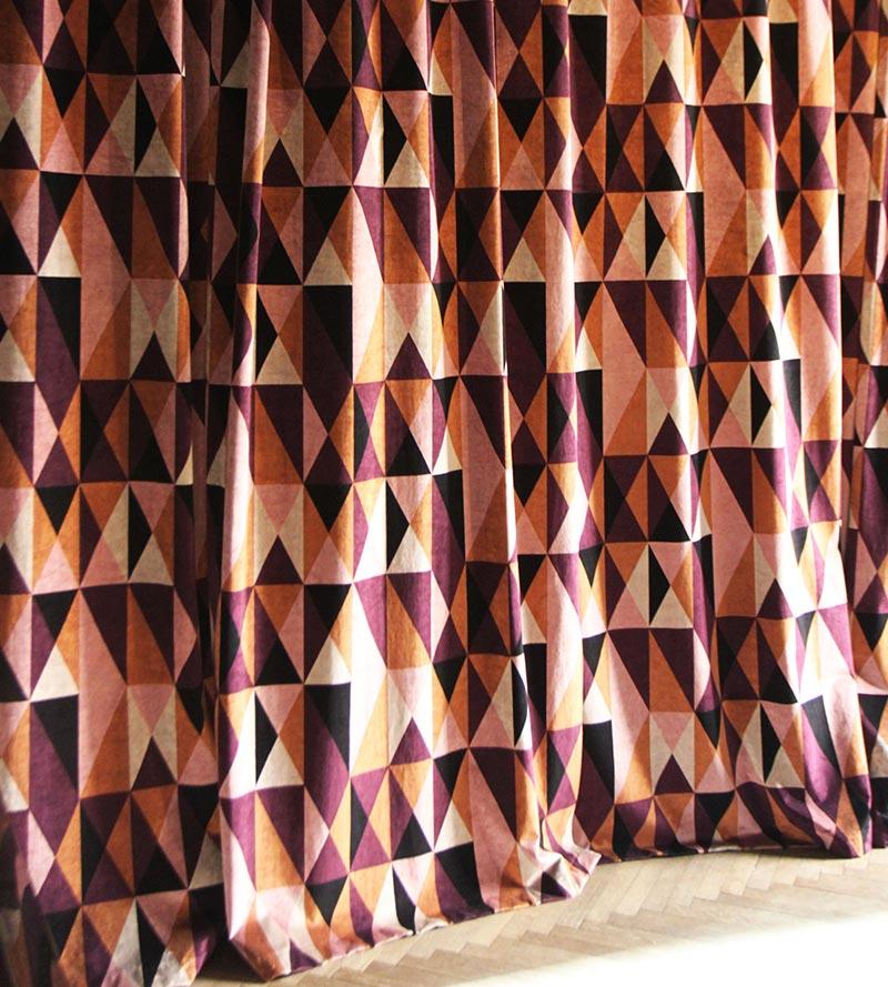 Arco velvet curtain
