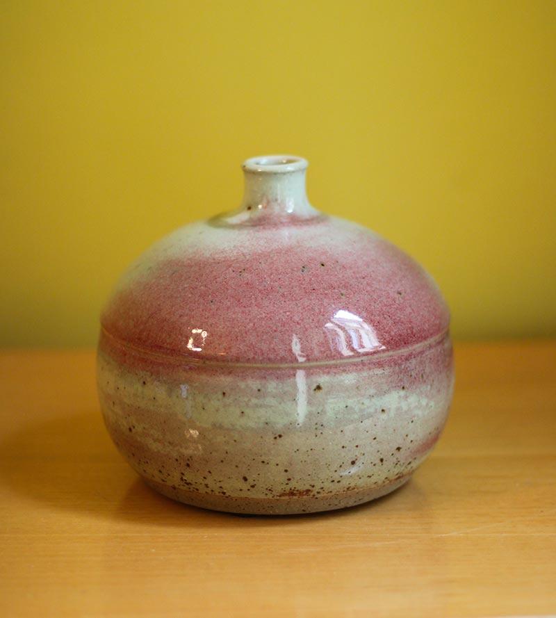 French pink vase