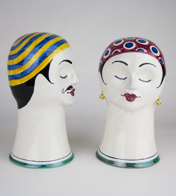 Hand-painted heads