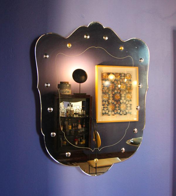 Vintage Studded Mirror