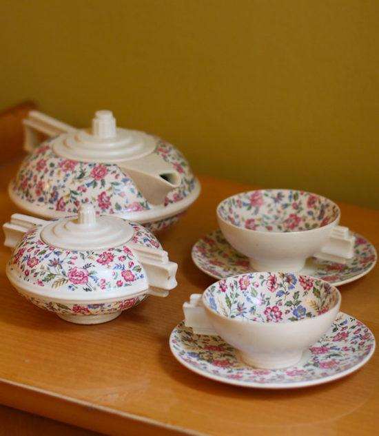 Flower Tea set vintage