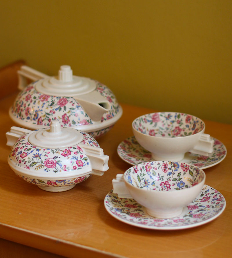 Flower Tea set vintage