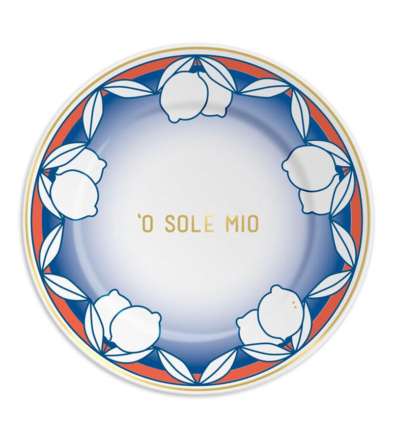 'O SOLE MIO PLATES