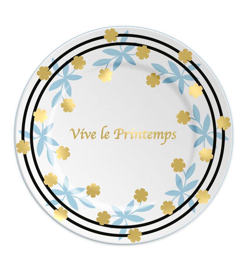 VIVE LE PRINTEMPS PLATE