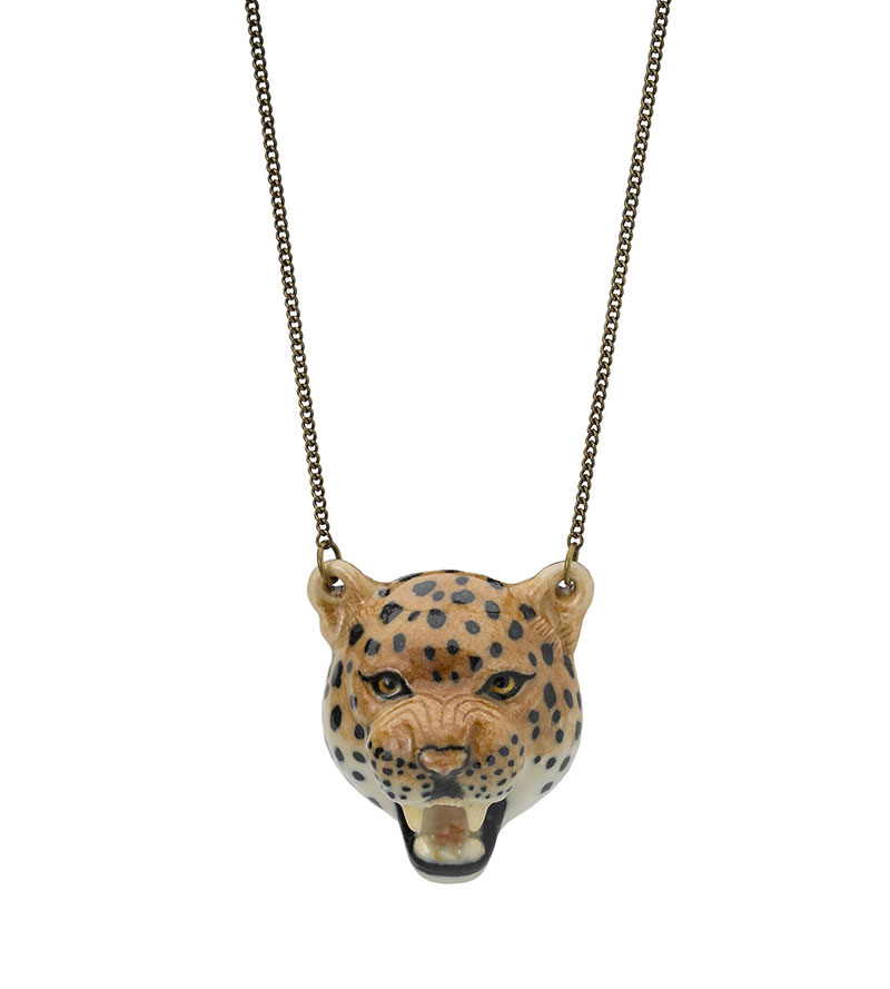 LEOPARD HEAD CHARM NECKLACE