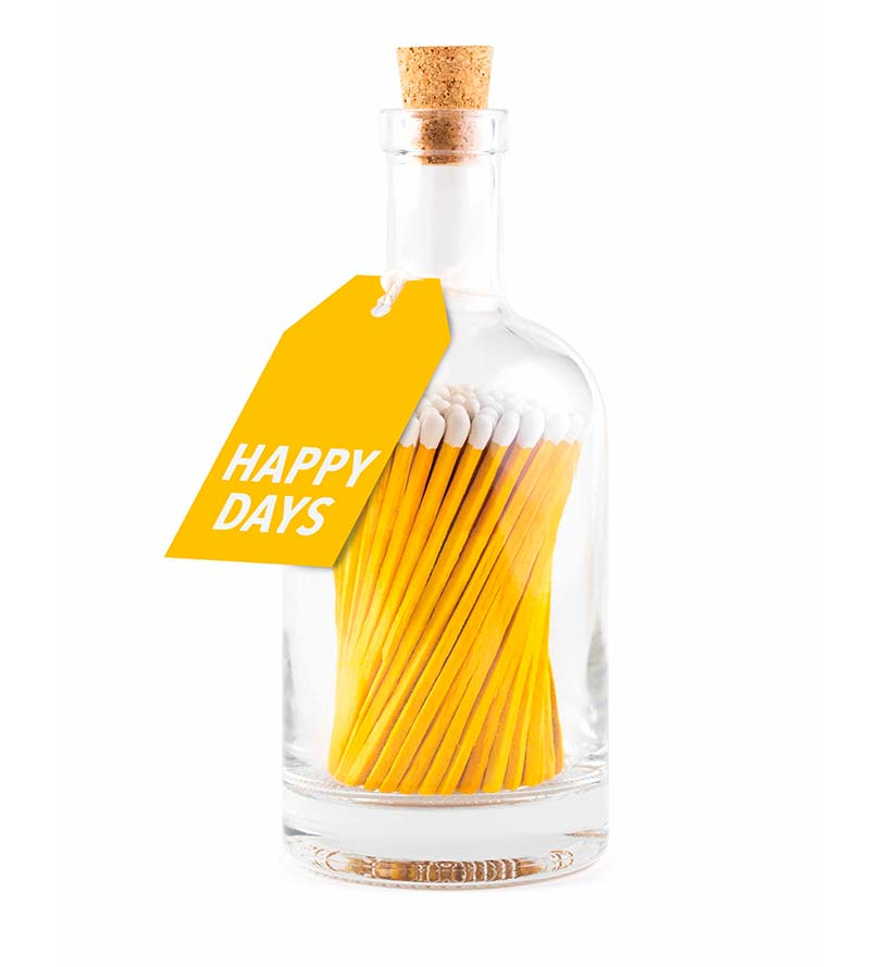 Happy days glass bottle
