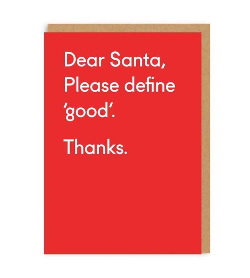 """Please define Good"" greeting card"