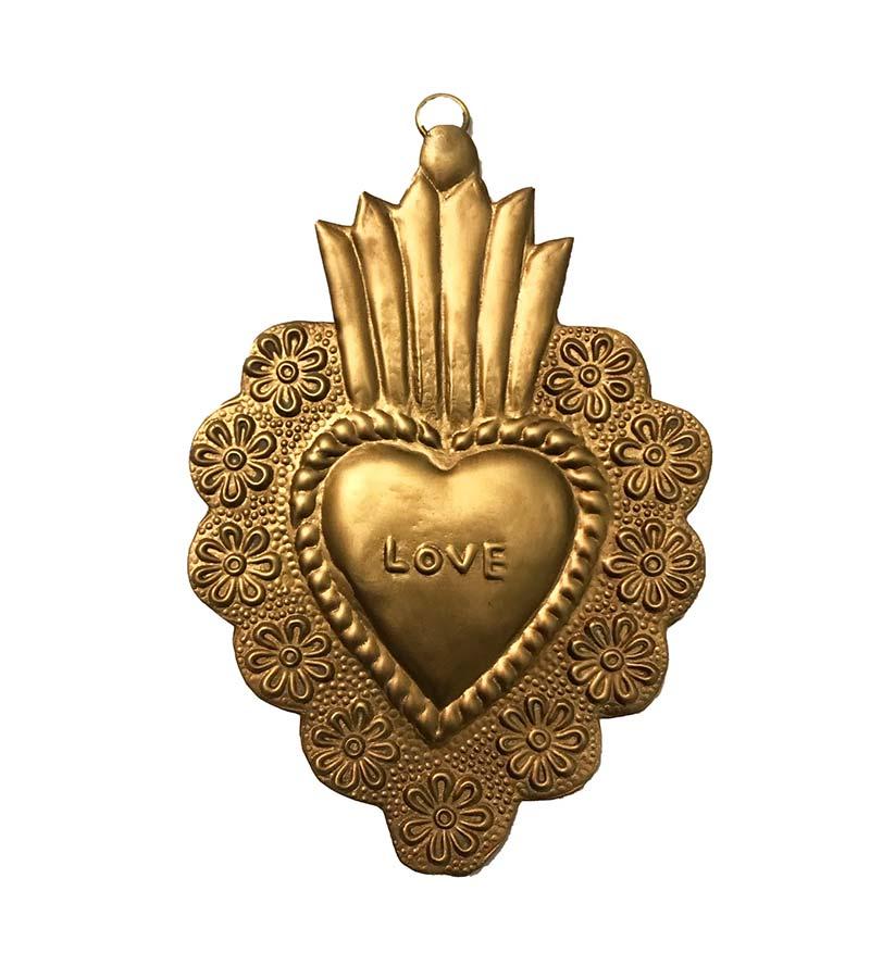 BIG LOVE HEART GOLD
